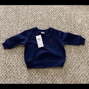 New Polo Ralph Lauren Boys Navy Sweatshirt 6M